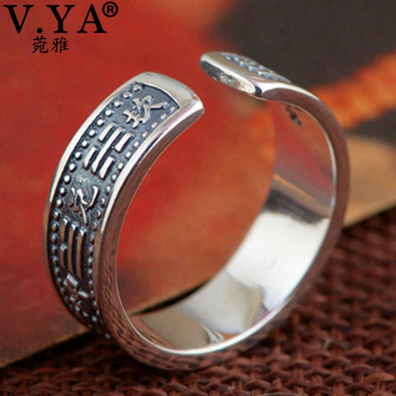2019 V Ya Solid 925 Sterling Silver Ring Men S Jewelry Vintage Eight