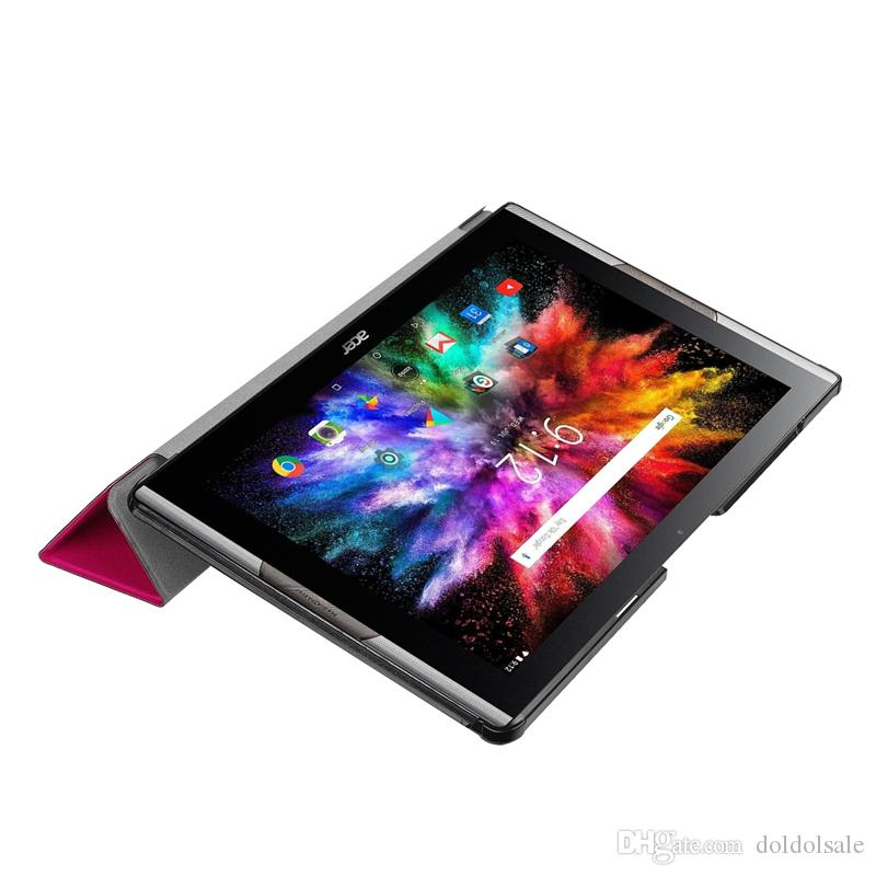 Flip Book Cover PU Leather Case for Acer Iconia Tab 10 A3-A50 One 10 A3-A50 Ultra Slim Protective Stand Case + Stylus Pen
