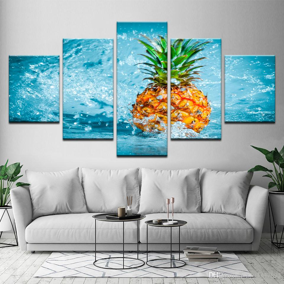 2018 Wall Art Pictures Modern Hd Printed Pineapple Frameworks ...