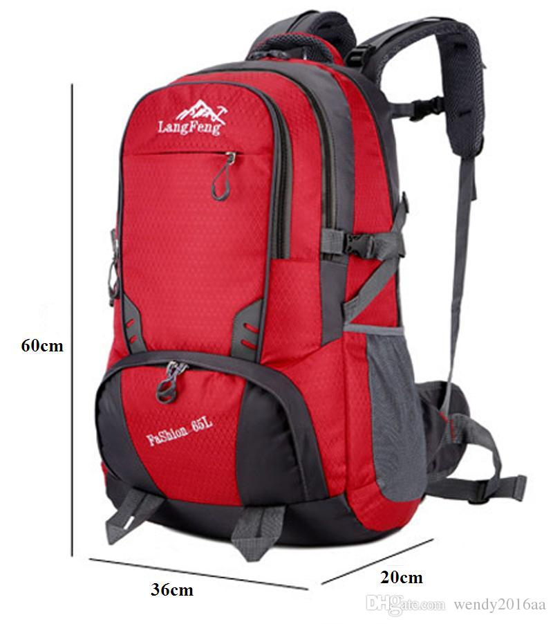 2017 New Large 65L Outdoor Backpack Unisex Travel Multi-purpose Waterproof breathable Climbing Sports bags