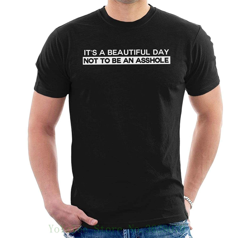its a beautiful day not to be an asshole men's t shirt tshirt o neck