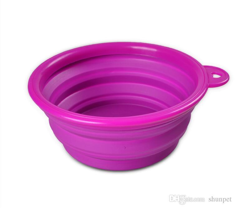 Новая TPE складная миска для животных и кошек с миской для еды и питьевой воды удобная миска 8 цветов