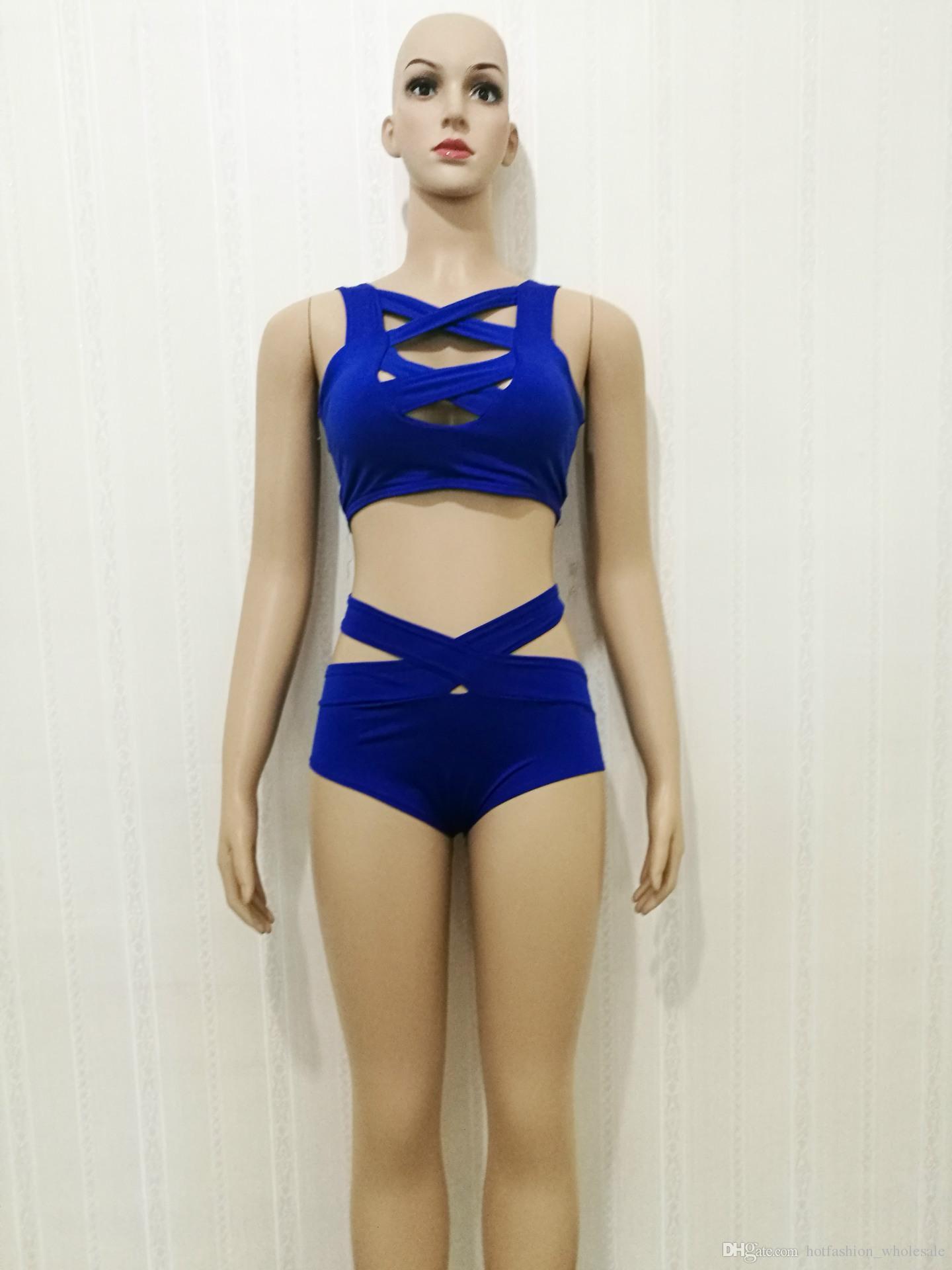 / Set = del lotto 2018 caldo di vendita del bikini Costumi da bagno le donne Bikini Swimsuit costume da bagno Beachwear Lady costume da bagno sexy delle donne di modo del bikini