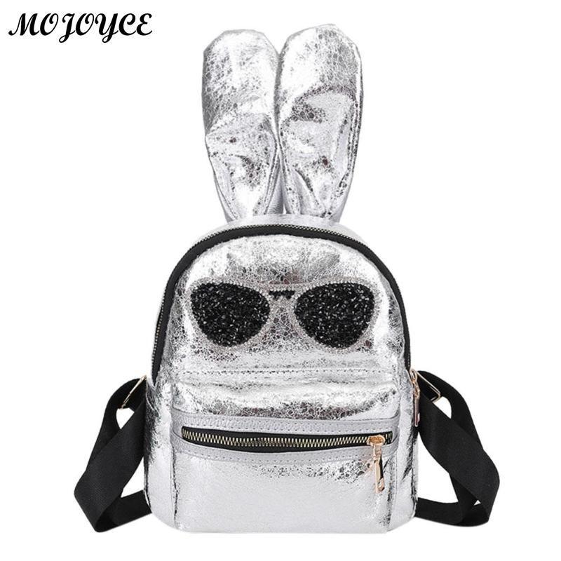 Mini Glitter Backpack Cute Rabbit Ears Shoulder Bag For Women Girls Travel  Bag Bling Shiny Children Backpacks Feminina Book Bags Herschel Backpacks  From ... 75cde27f33955