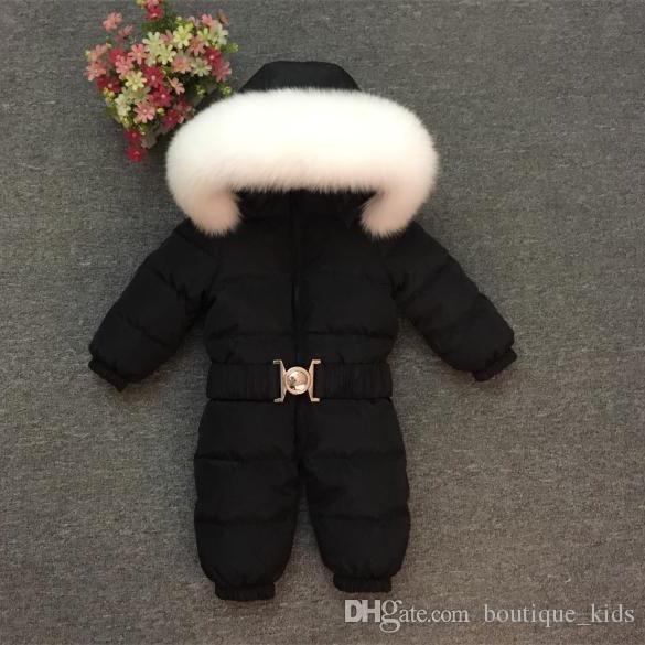f0f622f0dc4e 2018 Children s Winter Jumpsuits Kids Clothing Warm Snowsuit Baby ...