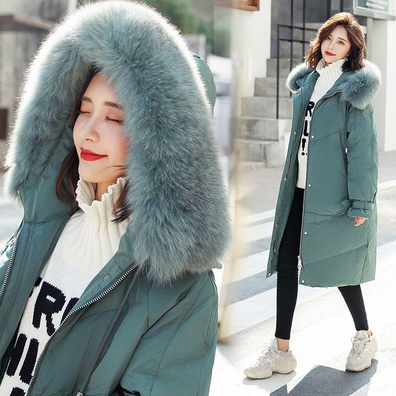 d9947584c1f2f 2019 Womens Winter Coat Long Jacket Down Parka Hood Korean Style Overcoat  Thicken Warm Tops Windbreakers Casual Clothing Plus Size From Tomwei