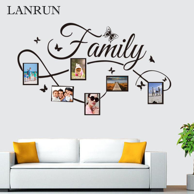 DIY Family Photo Frame Living Room Bedroom Wall Decals Poste Home ...