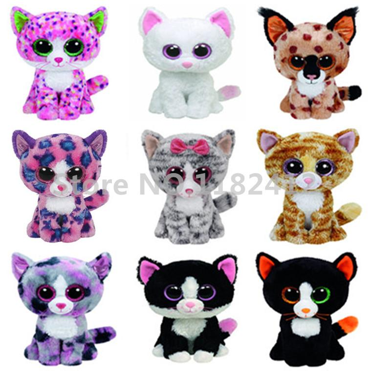 2019 Ty Beanie Boos Cat Plush Toy Muffin Cashmere Sophie Pepper Lindi Kiki  Frights Tabitha Tauri Reagan Cute Big Eyes Stuffed Animals From Cassial 37707224ab9