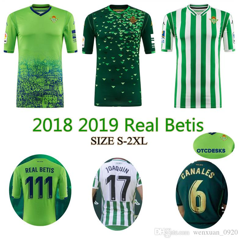 Compre 2018 2019 REAL BETIS Camisola De Futebol 18 19 Em Casa Ausente 3  JOAQUIN WILLIAM BOUDEBOUZ C. TELLO A. GUARDADO Camisas De Futebol De  Qualidade Thai ... 94024e824f6b2