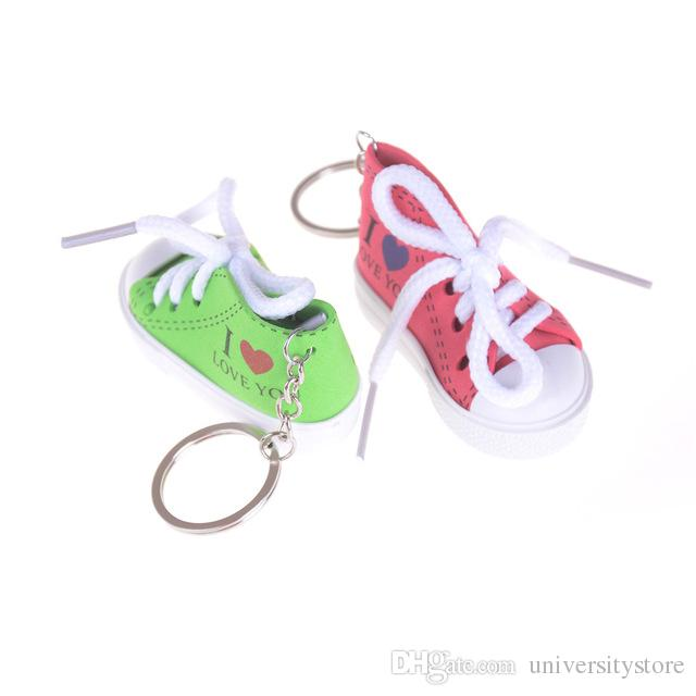 Mini I LOVE YOU Sneaker Shoes Keychains Sport Shoes Keyring Doll ... 35568d88d