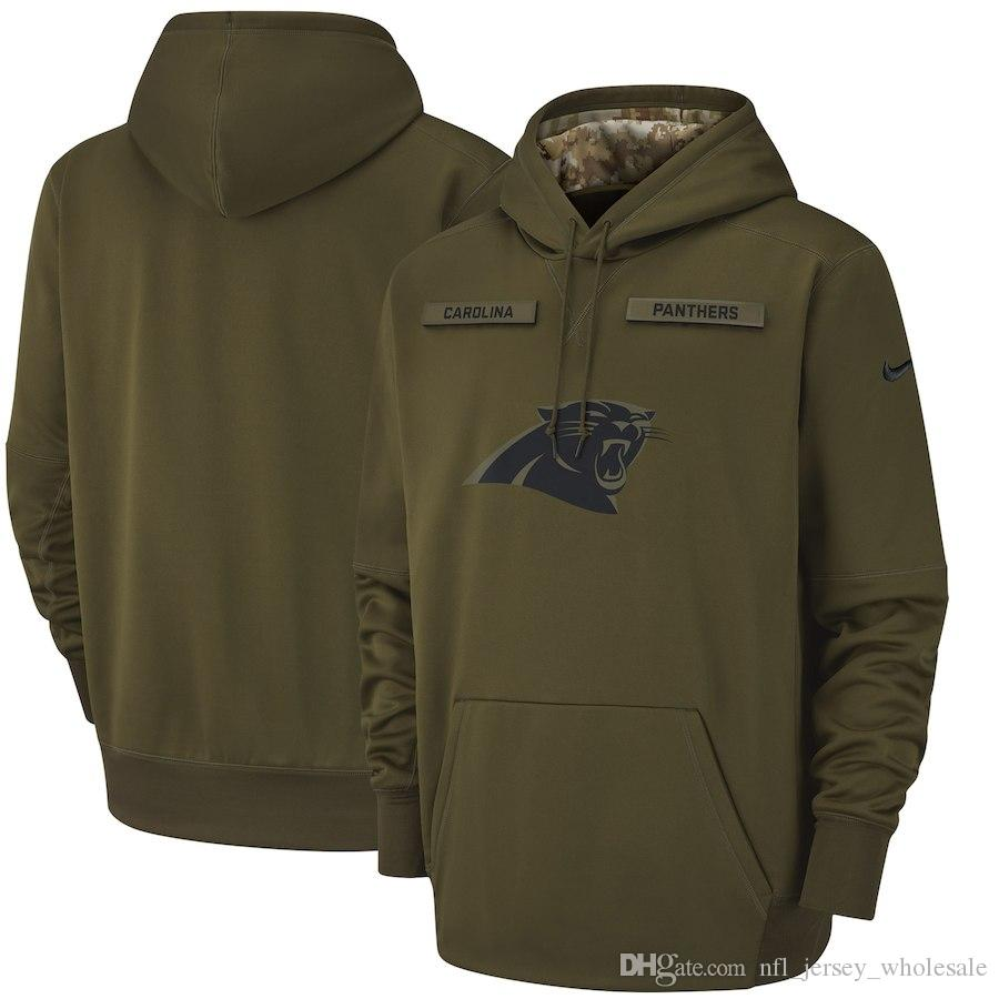 info for 70bf9 6cfde 2018 Hot Sale Mens Carolina Panthers Salute to Service Sideline Therma  Performance Pullover Hoodie S-3XL