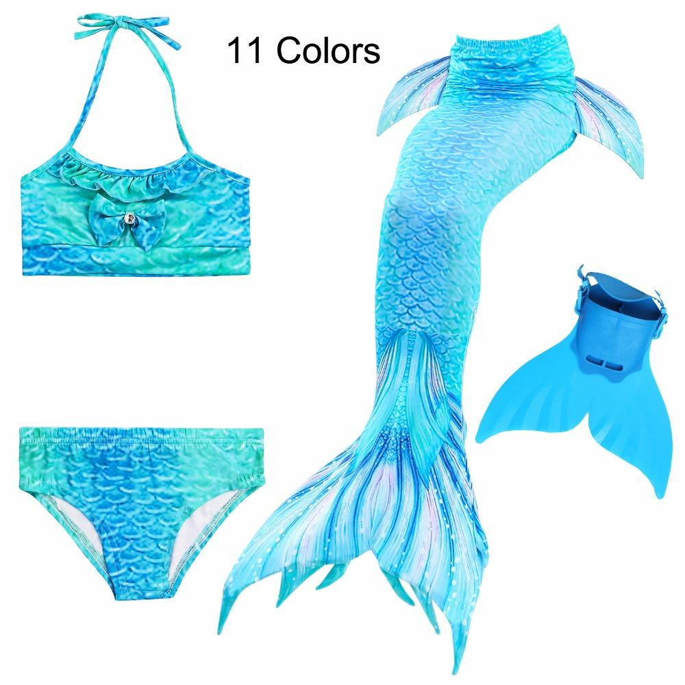 ccd3fc35236 /Girls Bathing Suit Swimming Mermaid Tail With Little Children Ariel  Mermaid Costume Kids Swimsuit Cosplay Halloween Costumes Theme Halloween  Costumes For ...