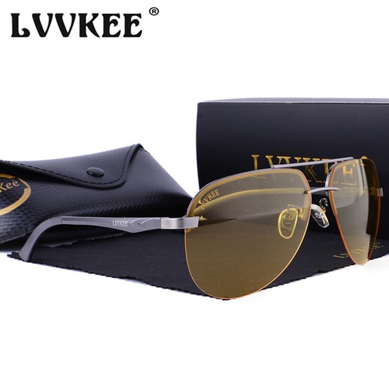 Compre Lvvkee Marca Original De Alumínio Magnésio Hd Óculos De Sol  Polarizados Homens Motorista Espelho Óculos De Sol Para As Mulheres Óculos  De Visão ... 9b21c78c8b