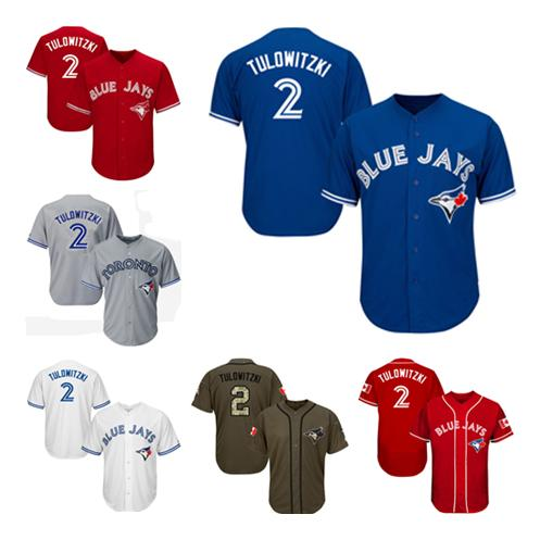 Men Women Youth Blue Jays Jerseys 2 Tulowitzki Baseball Jerseys ... 7e2dbf82e