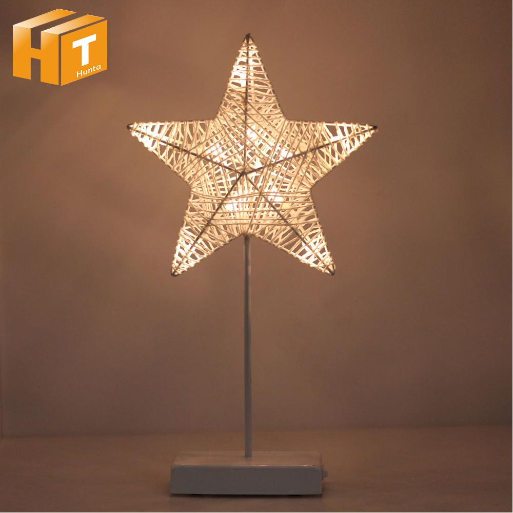 2019 Hand Crafted Warm White Led Night Light Star Heart Love Shaped