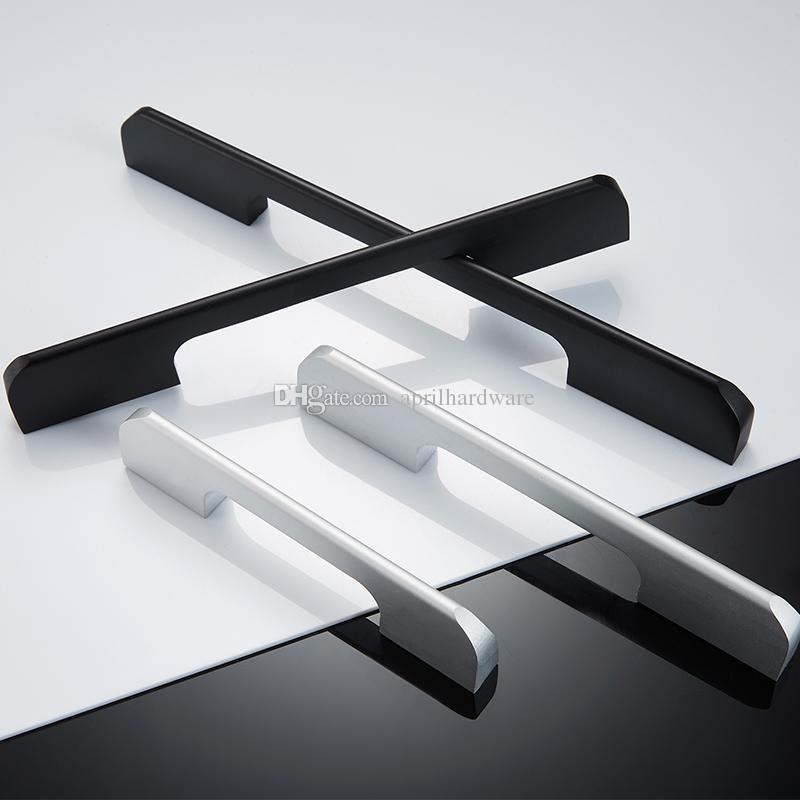 Alluminio all'ingrosso profilo tirare mobili camera da letto bagno scarpiera porta della cucina utilizzo nero maniglie di tiro bianco