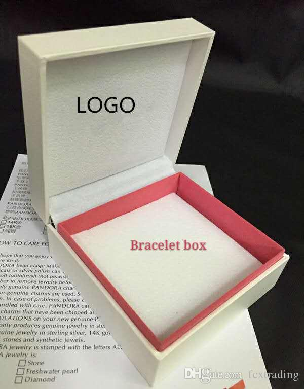 fit bianca la visualizzazione della scatola incanta piatto spugna cuscino All'interno Bead anello dell'orecchino della collana del braccialetto di sacchetti di carta regalo gioielli pacchetto