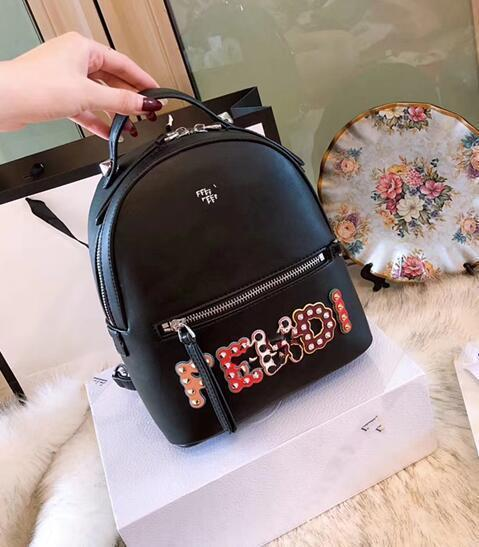 8fc5bd4a2d3c Cheap High Quality Europe 2018 Fashion Cute Style Famous Genuine Leather  Solid Colour Rivet Decoration Women Designer Backpacks