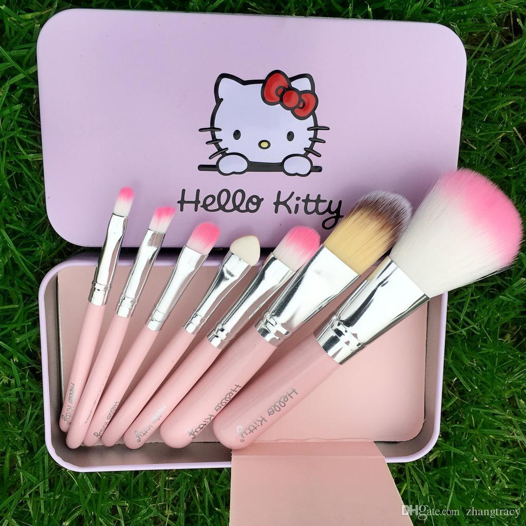 8ca06a7e7 Kitty Sweet Pink Black Mini Makeup Brush Set Cosmetics Kit De Pinceis De  Maquiagem Make Up Brush Kit With Metal Box Online Makeup Professional Makeup  Artist ...