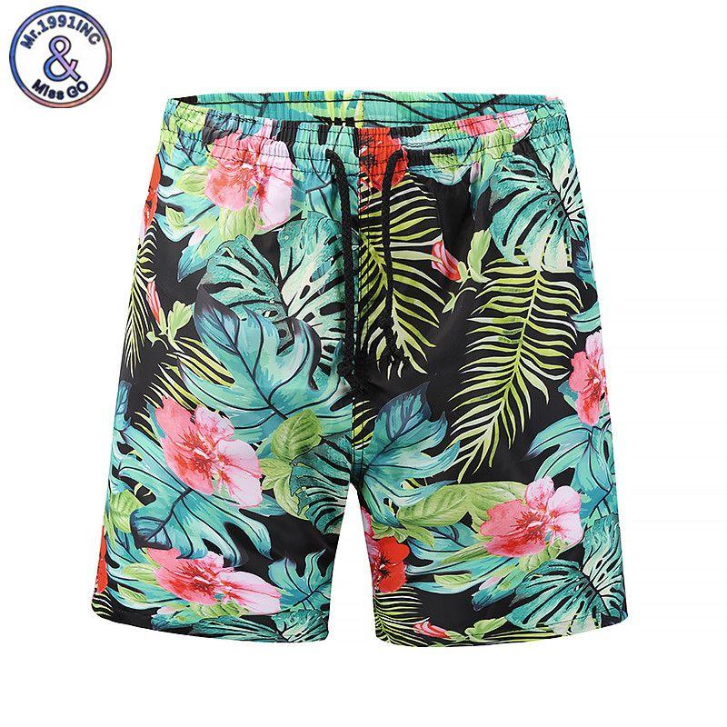 2a599cc2cb2 2019 Mr.1991INC 2018 New Summer Mens Beach Short Casual Board Shorts  Bermuda 3D Print Flower Plus Size M XXL From Hognyeni