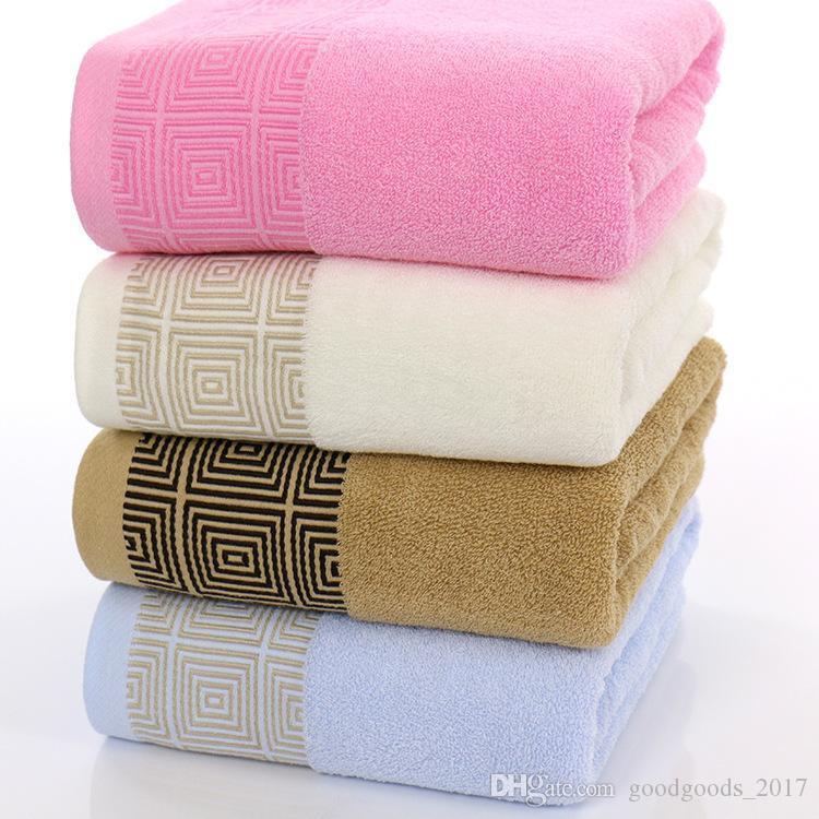 2019 70x140cm Cotton Bath Towel Beach Solid Color Washcloth Towel