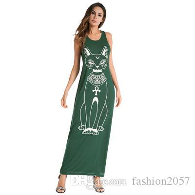 00e0fe0af 2018 verano caliente europeo y americano gato de dibujos animados de las  mujeres de la marca, vestido de correa, falda femenina sexy, envío gratis.