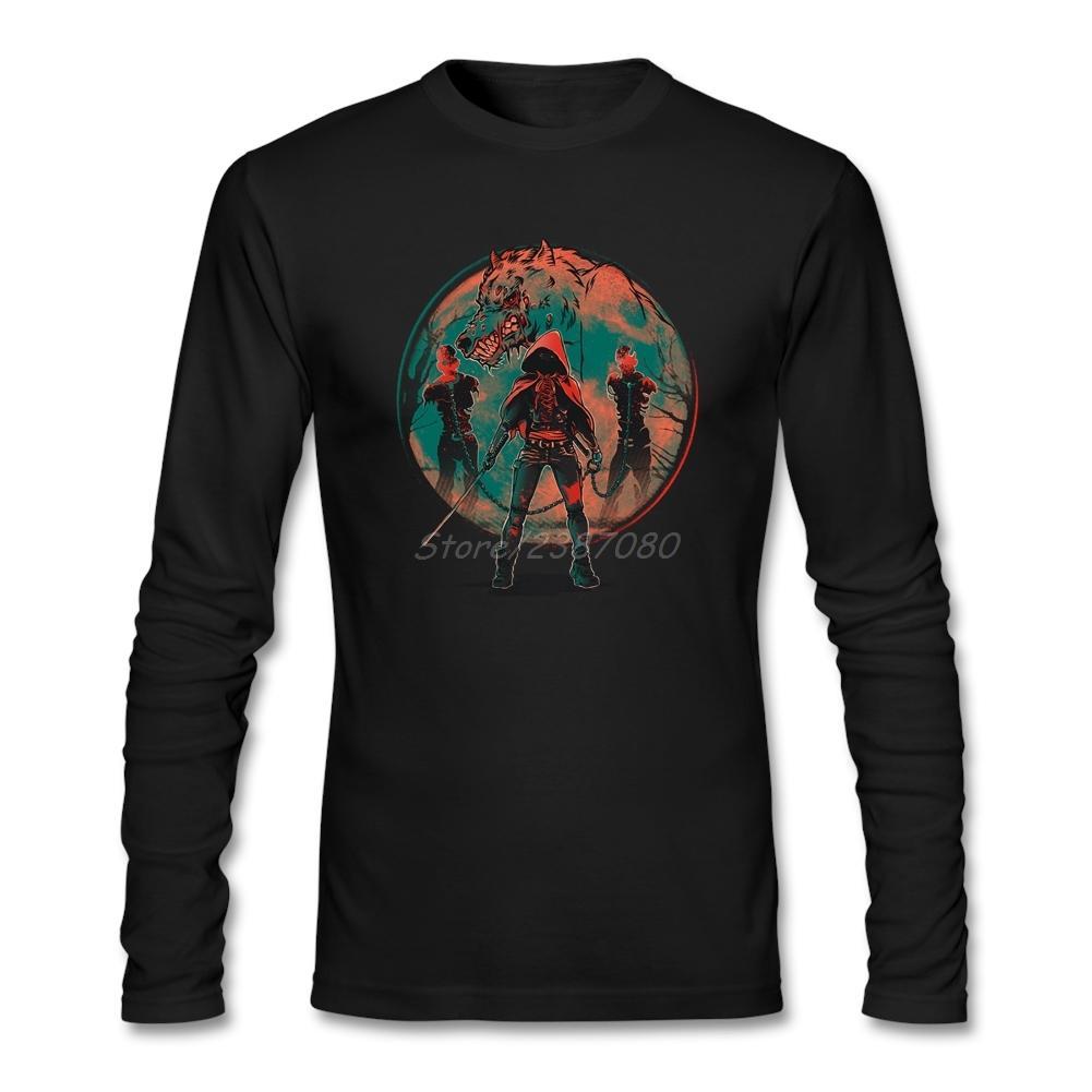 f111965230 Compre Gran Caperucita Roja Camiseta Manga Larga Ropa Para Hombres Nuevo  Estilo Calle Desgaste Algodón Crewneck Camisetas Para Hombres A  47.58 Del  Marryone ...