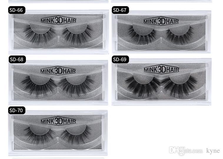 Stock Mink cílios 20 estilos vendendo / lote 100% real siberiano 3d completo tira falsa cílios longos cílios de cílios de cílios
