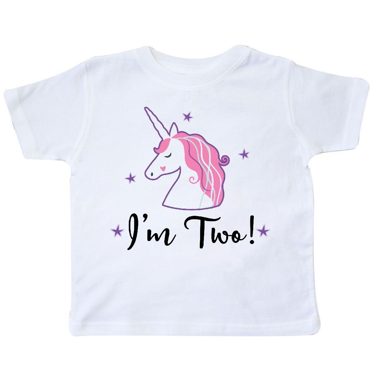 Inktastic 2nd Birthday Girls Unicorn Party Toddler T Shirt Two 2 Year Old Childs Funny Unisex Casual Tee Gift Printing Of All That Tshirt From