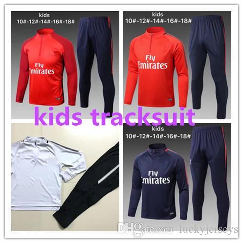 b4387fa4a1b794 2017 2018 Psg Kids Tracksuit Soccer Jackets Uniforms Sportswear 17 ...