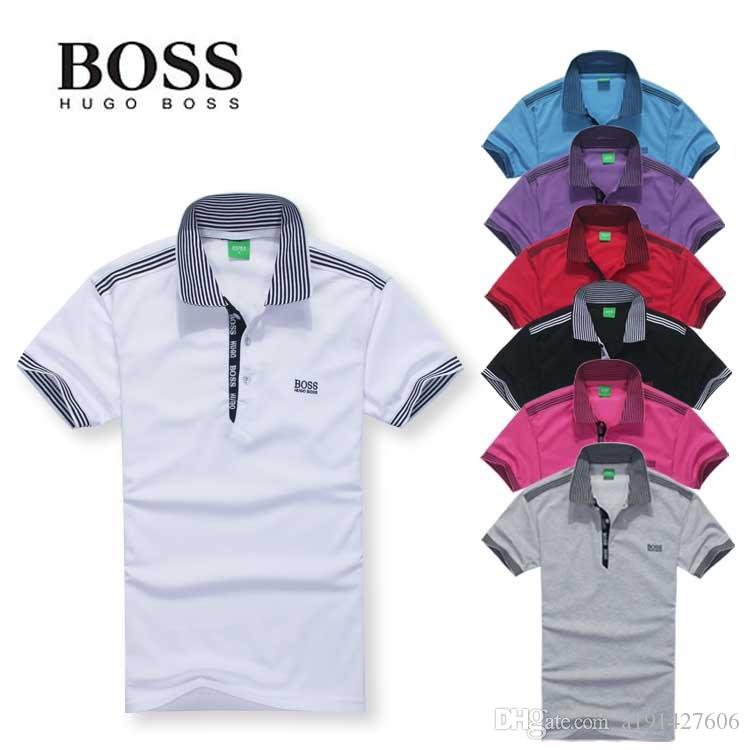 ffe38fd8b New Brands Mens POLO Shirts Cotton Business Short Sleeve Polo Solid ...