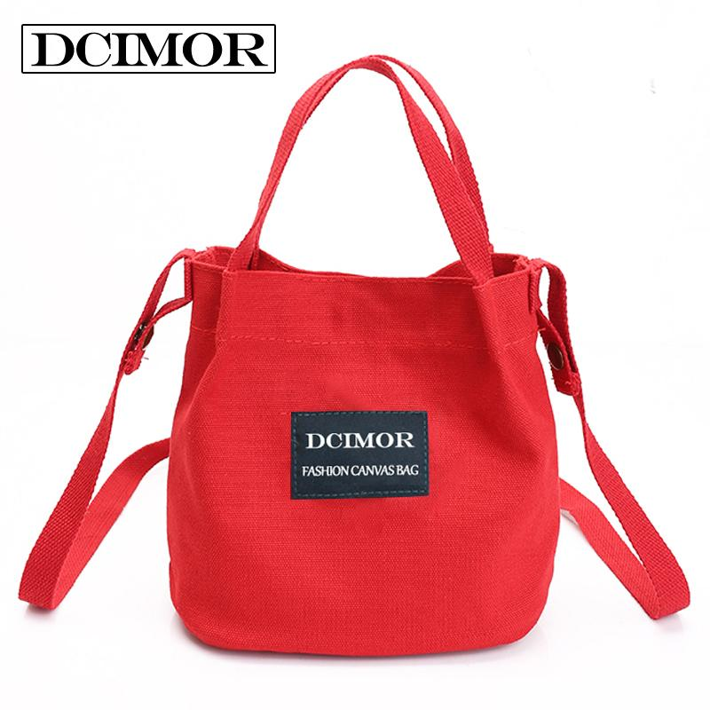 2019 Fashion DCIMOR Lady Canvas Handbag Mini Single Shoulder Bag Crossbody  Messenger Bag Women Swagger Bag Female Shopping Bags Bucket Pack Cheap  Designer ... 9bf1b9e41a03