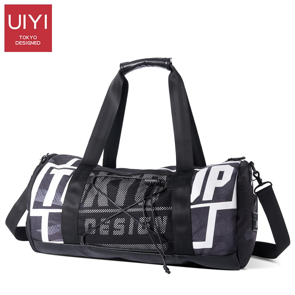 0b8be55b424e UIYI Men Travel Bag Black Polyester Travel Duffle Casual Round ...