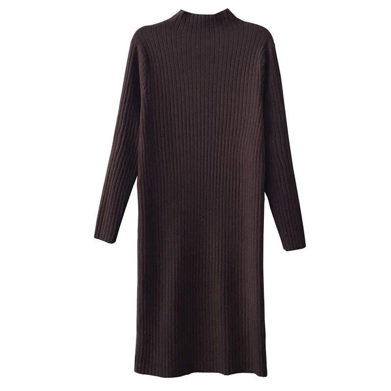 2019 Gtgyff Autumn Winter Warm Thermal Knitted Sweater Jersey Dress