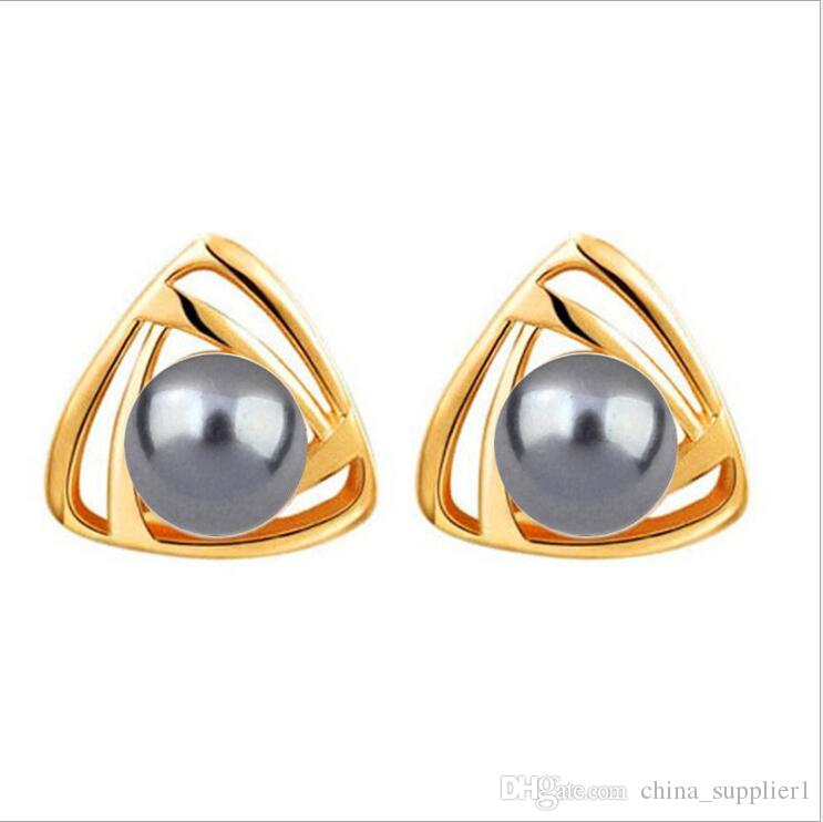 8b6046de8 2019 2018 New Korean Style Triangle Pearl Earrings Female Simple Fashion  Freshwater Pearl Earrings Personality Students Earrings From  China_supplier1, ...