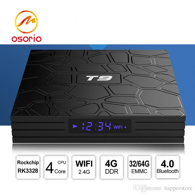 tv box android t9  T9 Smart TV BOX Android 8.1 OS RK3328 Quad Core 4GB RAM 32GB ROM ...