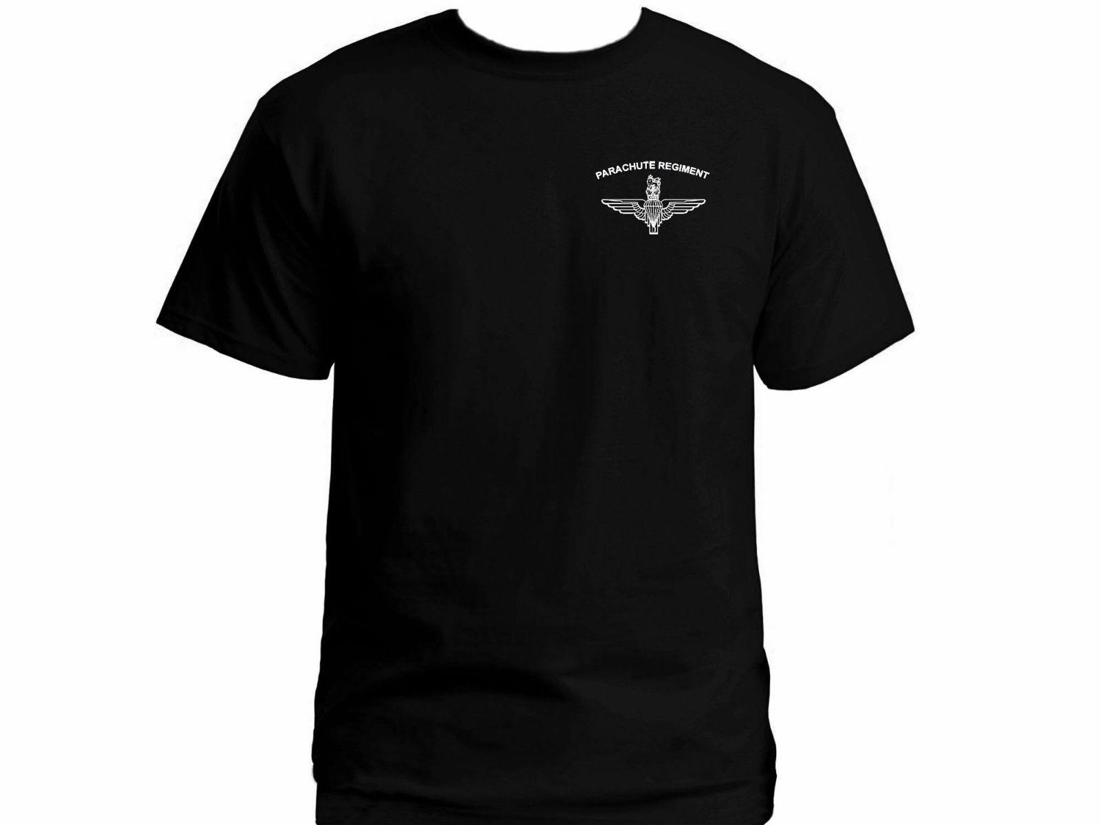 UK special forces Parachute Regiment Paras black graphic military t-shirt