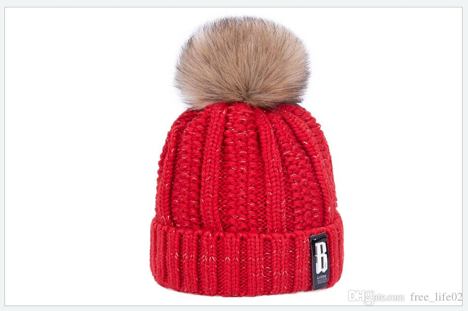 Wholesale Winter Hat For Women Fashion Solid Warm Hats Knitted Beanies Cap  Brand Thick Female Cap UK 2019 From Free life02 656f9f4b13