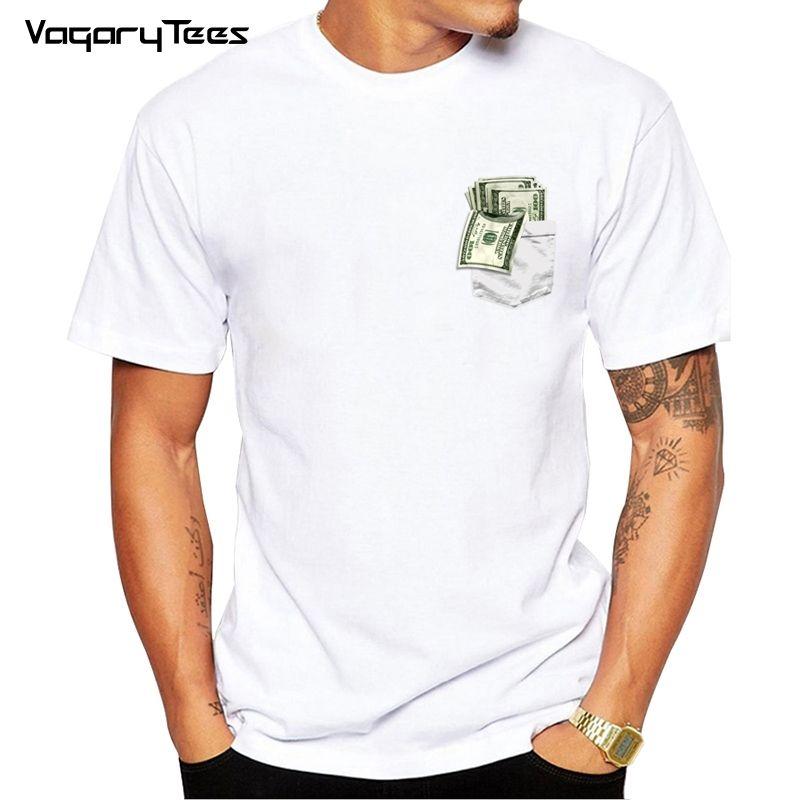 Dollar Short Sleeve T Shirt Men POCKET Money Tshirt Usa Funny T Shirt  Fashion Mens Clothing 2018 New Hipster Tops Web T Shirts Great Tee Shirt  Designs From ... 1037375ec3ae