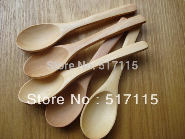 High Quality Cheap Wooden soup spoon 100pcs/lot Can put a LOGO for free Oak  spoon