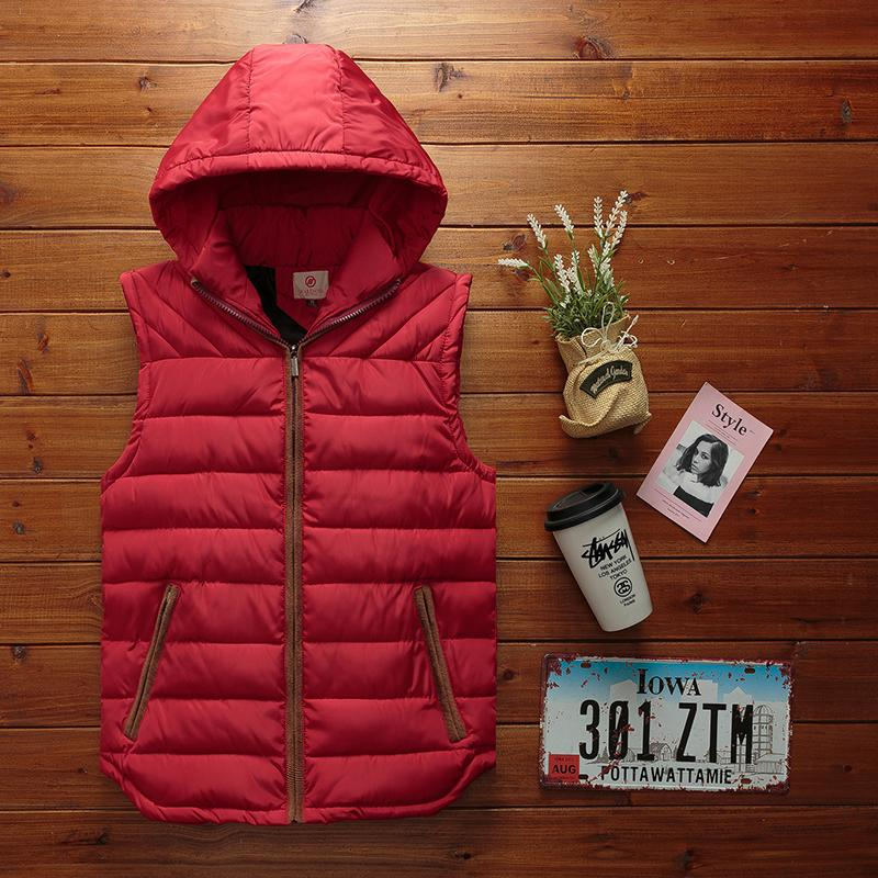 27482090310 Men s Autumn Winter Vest Casual Thick Warm Stand Collar Hooded ...