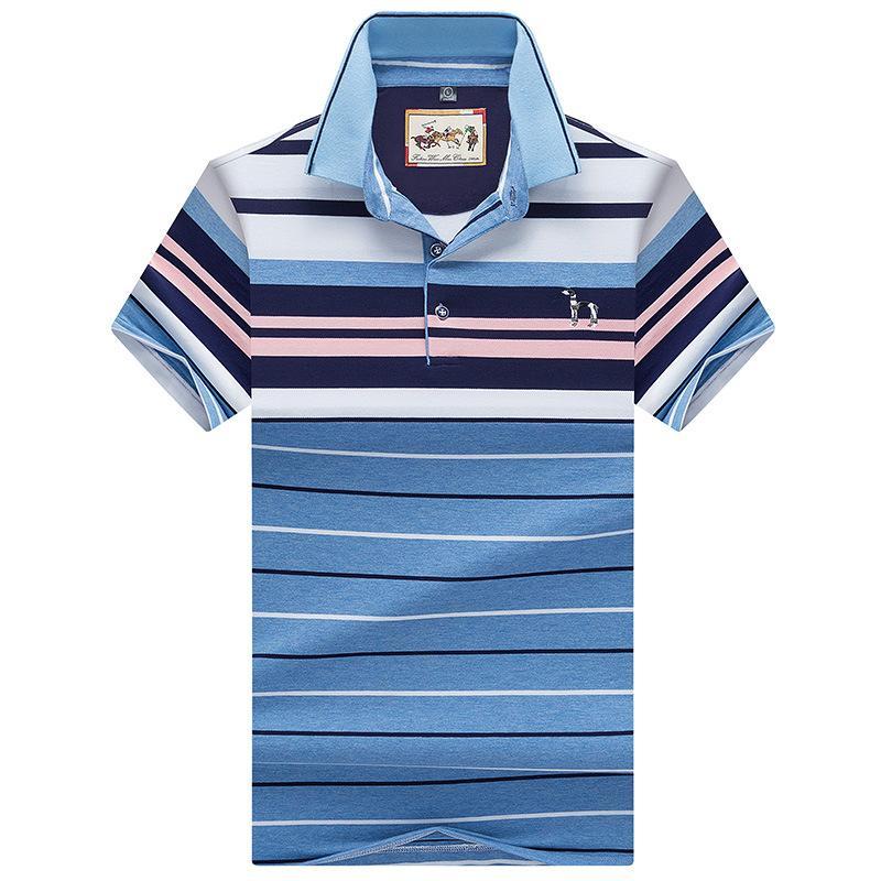Compre Designer De Camisas De Manga Curta Dos Homens De Moda Listrada Plus  Size Business Casual Camisa Dos Homens Da Marca T 95% Algodão AF8089 De  Hognyeni a85c4eb2b4f73