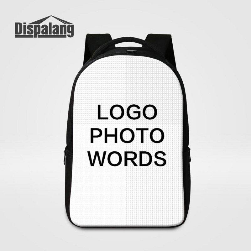 1f43a576eda1 Women Men Unique Design Large Capacity Laptop Backpack Print Your Own Logo  Photo On School Bags For College Students Unisex Customize Rugtas Black  Leather ...