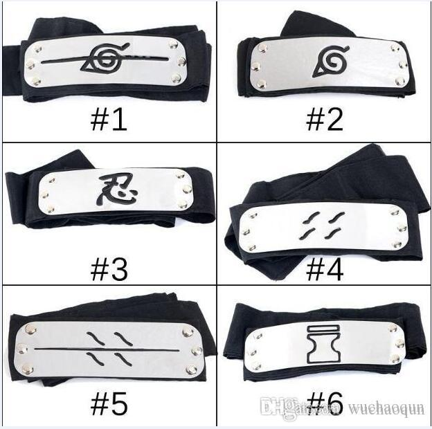 Free ship ANIME Naruto Headband 95cm Leaf Village Logo Konoha Kakashi Akatsuki Members Cosplay Costume Accessories blue red black in stock