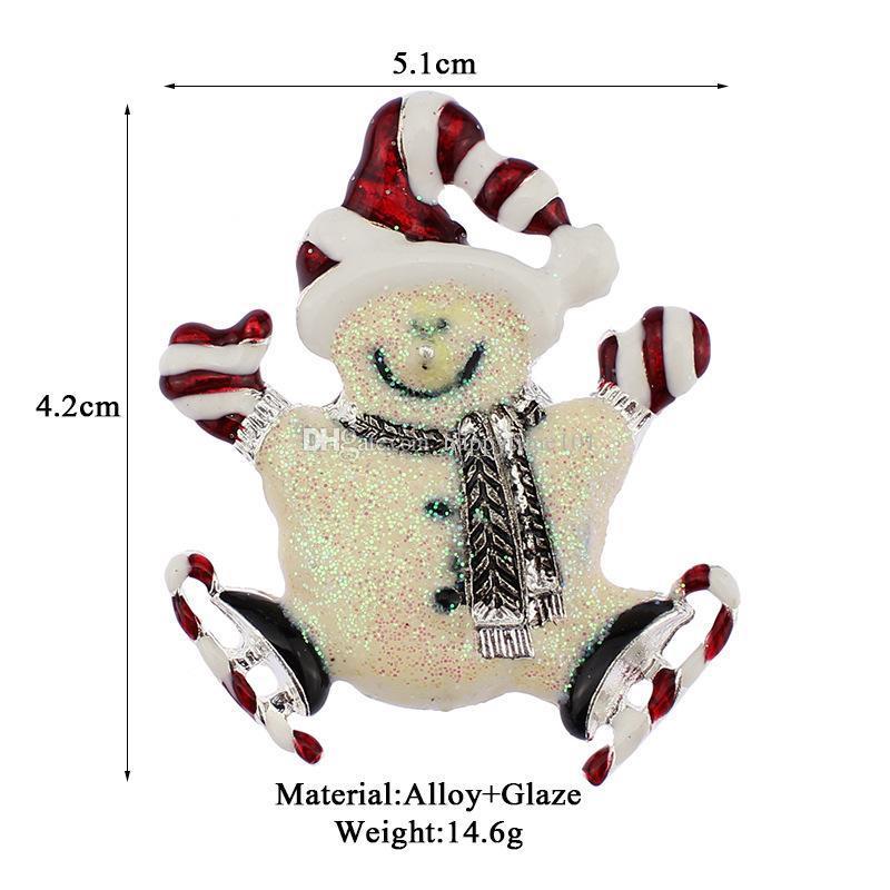 2017 noël broches strass émail cristal bonhomme de neige arbre chaussures cloches pingouin broche broches pour les femmes s bijoux de mode en en vrac