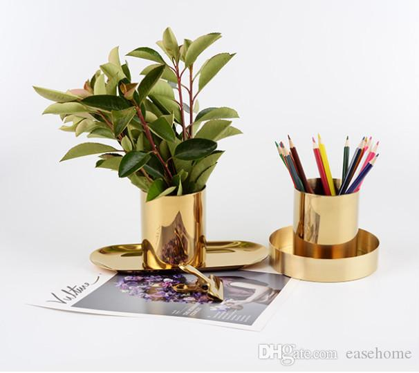 Nordic Style Copper Vases For Home Decor Brozen Vases Gifts For