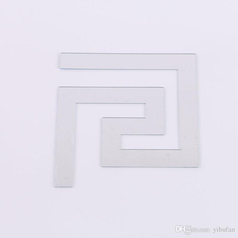 100 pçs / lote Quebra-cabeça Labirinto Acrílico Espelho Decalque Art Adesivos de Parede Home Decor 3 Cores Frete Grátis