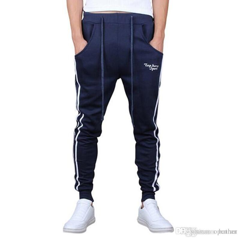 6903b893571c3 Compre Pantalones De Chándal Slim Fit Al Por Mayor Hip Hop Para Pantalones  De Baile Pantalones Sueltos De Carga Al Aire Libre Hombres Joggers Harem  Sudor A ...