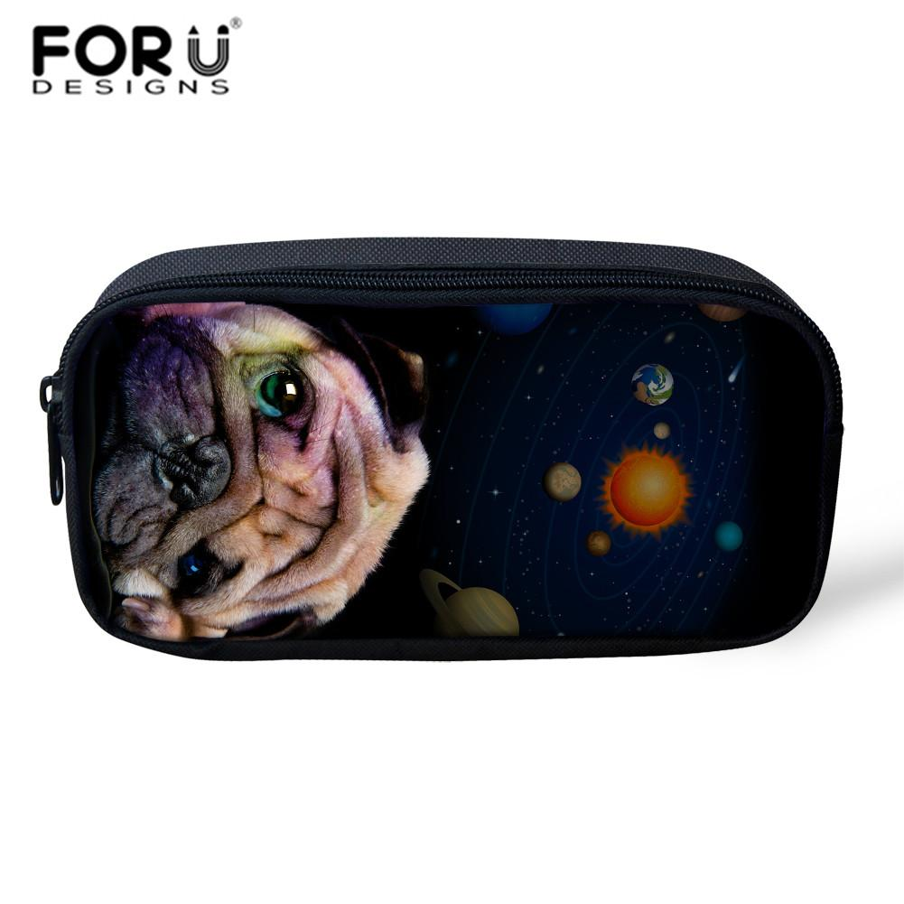 c75fae6e4cf0 FORUDESIGNS Make Up Bag Small Travel Cosmetic Pouch Cute Galaxy Pugs  Printing Pencil Bags For Children Storage Travel Makeup Bag