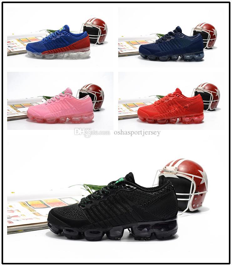 b898be5a153ee 2018 New Kids KPU Running Shoes Black Red Pink Children Designer ...